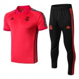 Polo Ensemble Complet Real Madrid 2019 2020 Rouge Noir