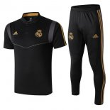 Polo Ensemble Complet Real Madrid 2019 2020 Negro Gris