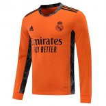 Maillot Real Madrid Exterieur ML 2020 2021 Orange